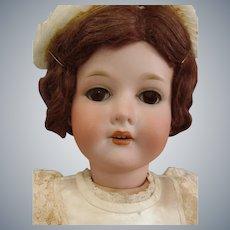 """Antique C.M. Bergmann Walterhausen German 1916 23"""" Bisque Doll"""
