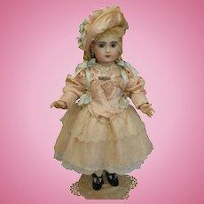Wonderful French Silk & Cotton Lace BEBE Doll Dress & Bonnet