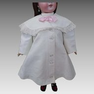 Victorian c1890 Child's Summer Coat Fine White Pique Cutwork Embroidery