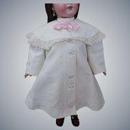 Victorian c1890 Child's Summer Coat Fine White Pique Cutwork Embroidery