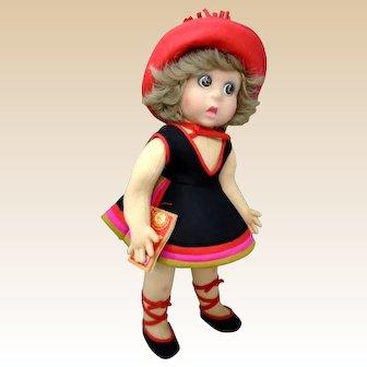 "1979 LENCI SIRENETTA doll 20"" tall Italy Modern Series"