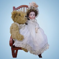 "Adorable Cabinet size 12"" Armand Marseille 390 Antique Bisque Doll"