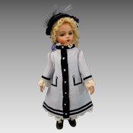 "Wonderful Wool Crape Couturier BEBE Coat/Dress & Bonnet 20"" BRU JUMEAU STEINER Doll"