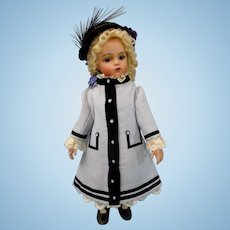 "Wonderful Wool Crape Couturier BEBE Coat/Dress & Bonnet 20"" BRU JUMEAU STEINER Doll"