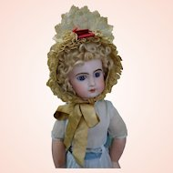 Victorian c1870's French lace doll Bonnet for French dolls size 10-14