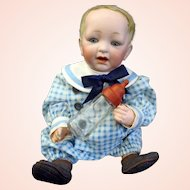 "Adorable ""SAMMY"" JDK KESTNER 211 All original  Character baby doll with original Moleskin wig & body"