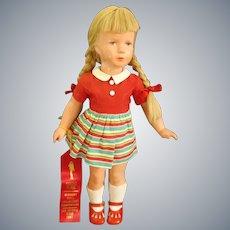 "c1950's First Place winner T40 KÄTHE KRUSE Celluloid Doll 16"" tall"