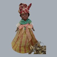 All original cabinet size c1900's SFBJ Unis France 60 Island Doll