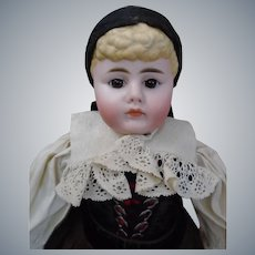 """All original c1880's Gebrüder Kuhnlenz Closed-Mouth Pouty Character child 21"""" doll"""