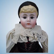"All original c1880's Gebrüder Kuhnlenz Closed-Mouth Pouty Character child 21"" doll"