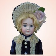 Beautiful French Antique Chunky closed mouth Jumeau Bebe