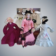 """15"""" Earliest RARE Marked Bru Antique French Fashion Doll & Full Trousseau"""