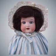 "Adorable Cabinet size Ernst Heubach Koppelsdorf 275 Bisque head 12"" doll in Antique dress"