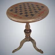 Miniature Brass game Round Tilt Top Table c. 1890 doll décor