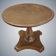 19th Century Dolls Table brass Tilt Top