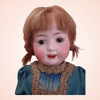 """Rare model Most Sweetest 23"""" Heubach Koppelsdorf Turingia Bisque Toddler Doll, Mold 267 in Antique dress"""