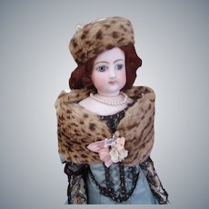 Superb French 2 Piece Fur Stole and Hat Set for fashion doll