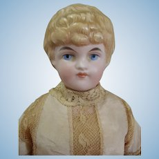 """Very rare Antique German Pink Bisque by Kling 143 Doll 11.5"""" tall"""