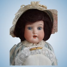 "Adorable small Cabinet size Ernst Heubach Koppelsdorf 275 Bisque head 12"" doll c1890's"