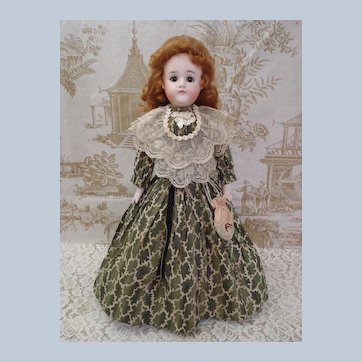 "Outstanding Antique bisque 19"" Pouting Closed Mouth A.T. Kestner Fashion Doll"
