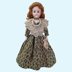 """Outstanding Antique bisque 19"""" Pouting Closed Mouth A.T. Kestner Fashion Doll"""