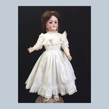 "All Original 24"" Heinrich Handwerck Simon & Halbig Walking Crying Doll Factory Dress"