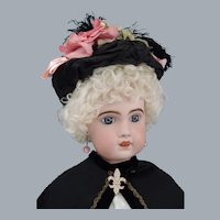 """Grand 30"""" Bebe Jumeau 1907 Size 14 in All Antique costume"""