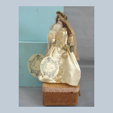 Victorian Lady with Powder Puff and Mirror by Au Nain Bleu in All-Original Presentation & Box