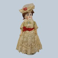 "All Original French 9"" poured bisque G22 Doll"