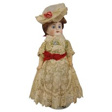 """All Original French 9"""" poured bisque G22 Doll"""