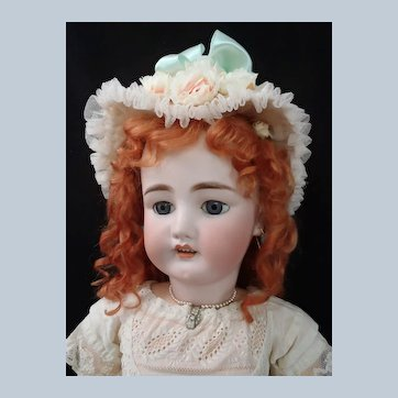"Antique Simon & Halbig C.M. Bergmann Walterhausen German 29"" Bisque Doll in Antique dress"