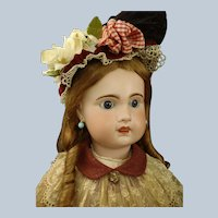 Mademoiselle Bebe Jumeau Grand size 15 French bisque Doll marked body & Trousseau