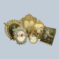 Collection of 6 Framed Victorian Photograph Children & Toys