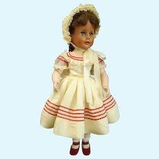 "c1953 Gorgeous 17"" Brunette Madelaine Doll by Madame Alexander hard plastic"