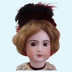 "23"" 1907 Jumeau Walks, Blows Kisses Antique French Doll"