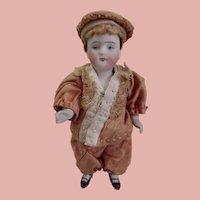 Pretty All Bisque Kestner 130 in Original silk costume Excellent Condition
