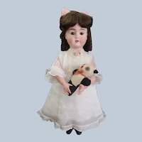 """Very rare Antique Adorable Childlike Viola German Bisque Doll 22"""" tall"""