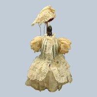 Pretty Handmade 19th Century Bebe silk Dress with Bonnet