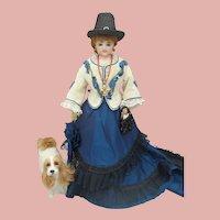 """17"""" Francois Gaultier Scroll mark French fashion doll c1870's"""