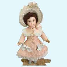 Marvelous French Quilted Silk Bebe Coat/dress with lovely Bonnet
