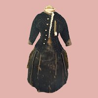 """Stunning Antique French Poupee costume for 14/15"""" doll"""
