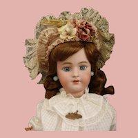 "Gorgeous Blue eyes Heinrich Handwerck & Simon Helbig 24"" bisque doll marked body"