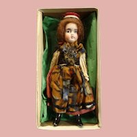 """All original Antique 8"""" French character LANTERNIER, Limoges All bisque doll"""