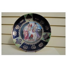 Late 19th c. European Hand-Painted Plaque ..11 7/8""