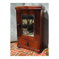 Circa 1870 French Mahogany Armoire For A Fashion or Bebe