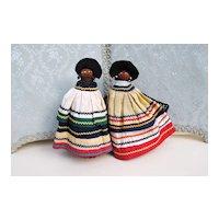 Happy Seminole Indian Pair
