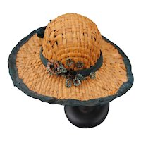 Authentic 19th c. Straw Hat