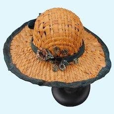 Authentic 19th c. Straw Hat