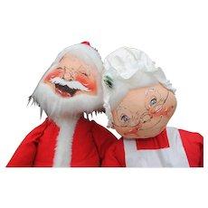 "29"" Vintage Annalee Santa and Mrs. Santa"