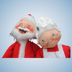 "29"" Vintage Annalee Santa and Mrs. Santa"